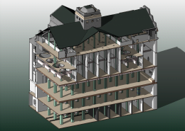 Model 3D Revit BIM sectiune