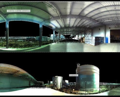 Scanare 3D Boma hala constructie